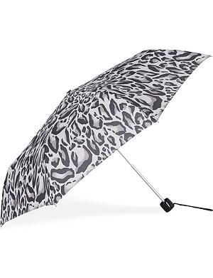 FULTON Minilite leopard-print umbrella