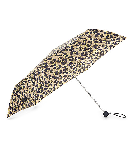 FULTON Leopard print umbrella (Blotted+leopard