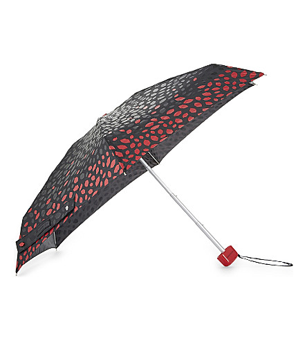 FULTON Lip print umbrella (Tonal+scattered+lip