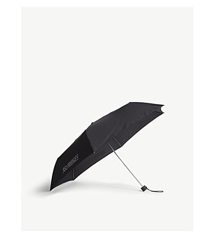 FULTON Fulton Selfridges super slim umbrella (Black/white