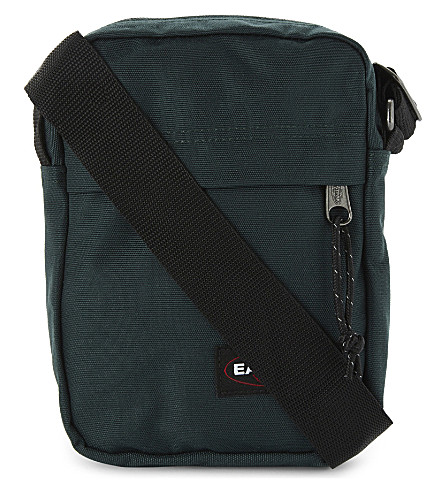 EASTPAK The One canvas cross-body bag (Optical+green