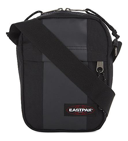 EASTPAK The One nylon messenger bag (Black+rubber