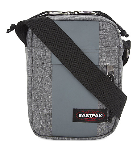 EASTPAK The One nylon messenger bag (Grey+rubber