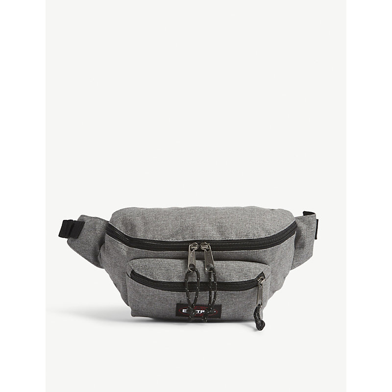 EASTPAK | Eastpak Sunday Grey Woven Authentic Doggy Bum Bag | Goxip