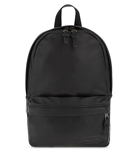 EASTPAK Frick backpack (Black+leather