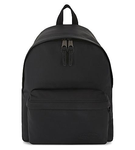 EASTPAK Padded Pak'r leather backpack (Black+ink+leather