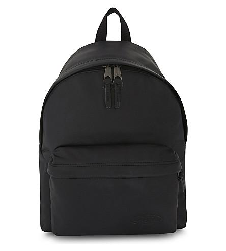 EASTPAK Padded Pak'r ® leather backpack (Black+ink+leather