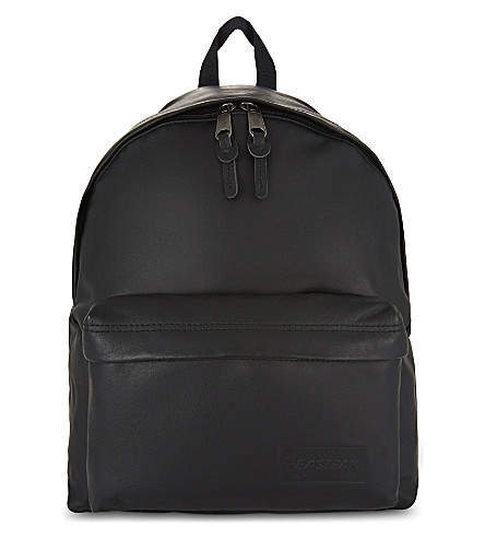 EASTPAK Authentic Padded Pak'r Exclusive leather backpack (Black+ink+leather