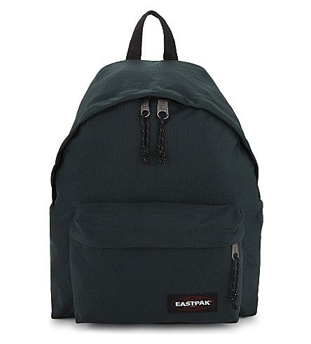 EASTPAK Padded Pak'r leather backpack (Optical+green