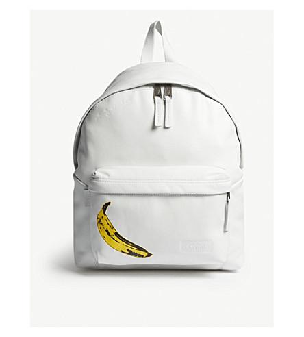 EASTPAK Padded Pak'r Andy Warhol Leather Banana backpack (Leather+banana