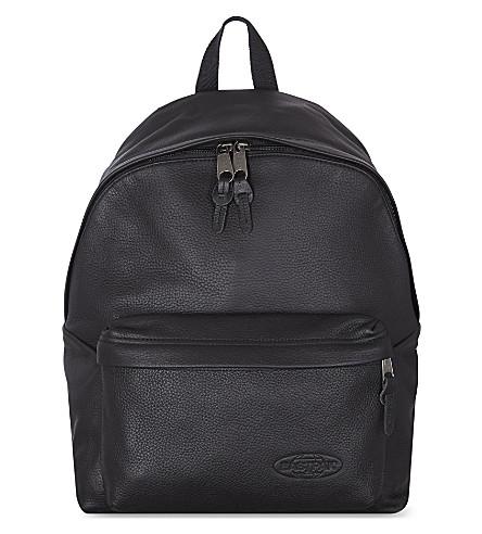 EASTPAK Padded Pak'r backpack (Black leather