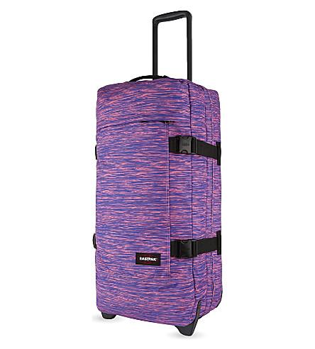 EASTPAK Authentic Tranverz large two-wheel suitcase 79cm (Black+rubber