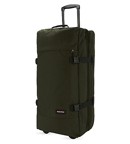 EASTPAK Tranverz large two-wheel suitcase 79cm (Army+socks