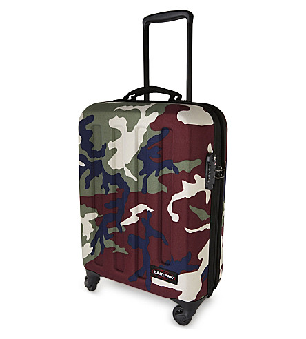 EASTPAK Tranzshell small four-wheel cabin suitcase 54cm (Camo+green
