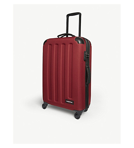EASTPAK Tranzshell medium four-wheel cabin suitcase 67cm (Brave+burgundy