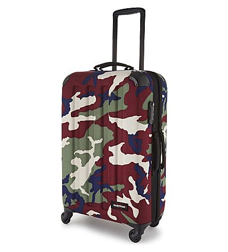EASTPAK Tranzshell medium four-wheel cabin suitcase 67cm (Camo+green