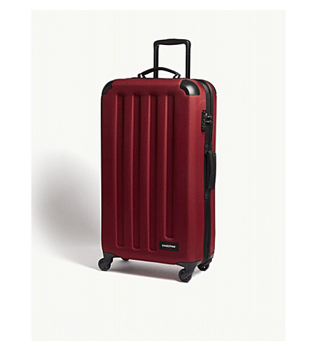 EASTPAK Tranzshell large four-wheel cabin suitcase 77cm (Brave+burgundy