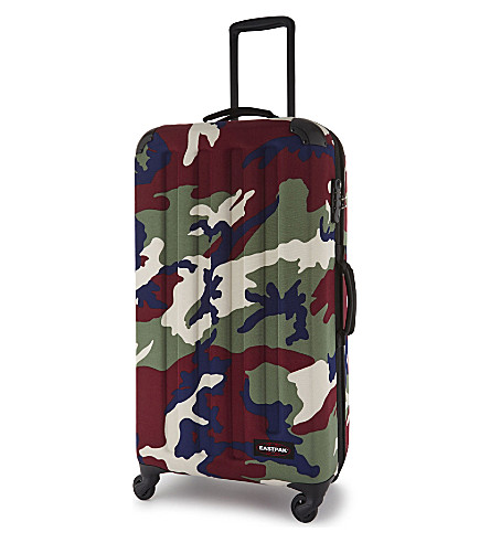 EASTPAK Tranzshell large four-wheel cabin suitcase 77cm (Camo+green