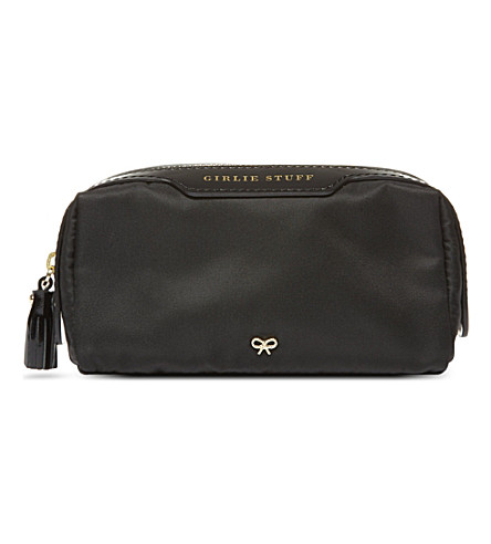ANYA HINDMARCH Girlie Stuff wash bag (Black