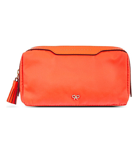 ANYA HINDMARCH Girlie Stuff wash bag (Clementine