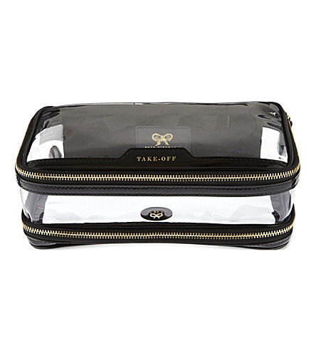 ANYA HINDMARCH Cosmetic flight bag (Black
