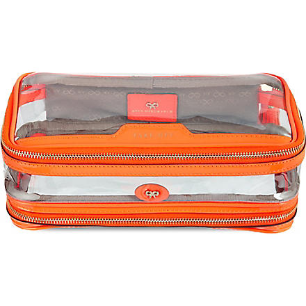 ANYA HINDMARCH Cosmetic flight bag (Clementine