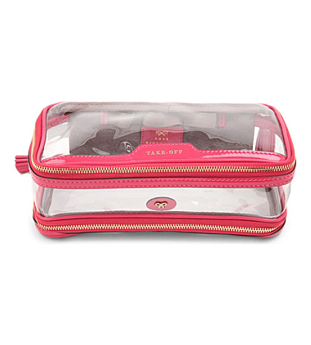 ANYA HINDMARCH Cosmetic flight bag (Sorbet