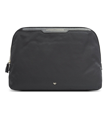 ANYA HINDMARCH Lotions & Potions large make-up bag (Black