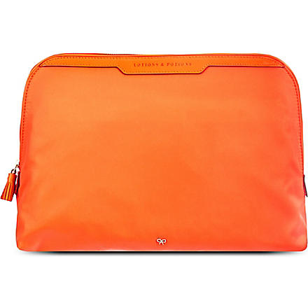 ANYA HINDMARCH Lotions & Potions large make-up bag (Clementine