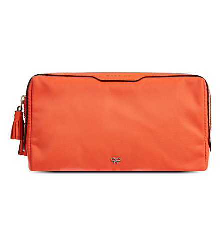 ANYA HINDMARCH Lotions & Potions small make-up bag (Clementine