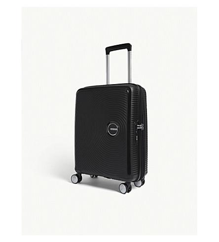 AMERICAN TOURISTER Soundbox expandable four-wheel cabin suitcase 55cm (Bass+black