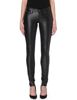 SAINT LAURENT Skinny faux-leather trousers