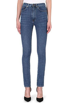 SAINT LAURENT Skinny high-waist stretch-denim jeans