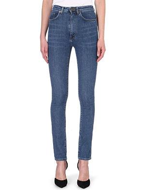 SAINT LAURENT Skinny high-waist stretch-denim jeans