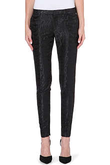 SAINT LAURENT Tapered jacquard trousers