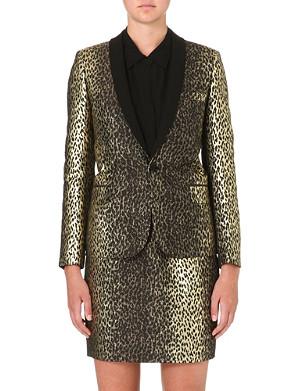 SAINT LAURENT Leopard-print blazer