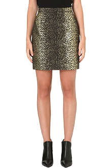 SAINT LAURENT Leopard mini skirt