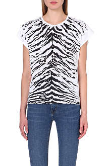SAINT LAURENT Zebra-print t-shirt
