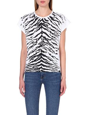 SAINT LAURENT Zebra-print t-shirt