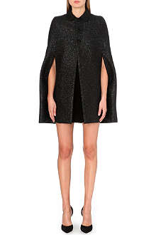 SAINT LAURENT Lamé-tweed cape
