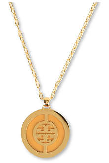 TORY BURCH Deco logo pendant necklace