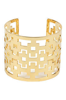 TORY BURCH Carson 16ct gold-plated cuff