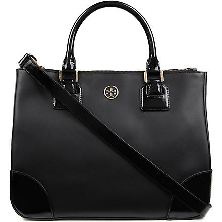 TORY BURCH Robinson Double Zip tote (Black
