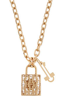 TORY BURCH Lock & key necklace