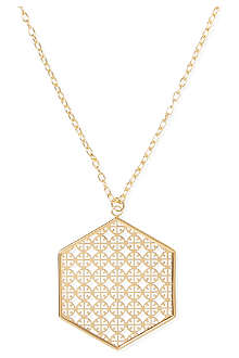 TORY BURCH Perforated logo pendant