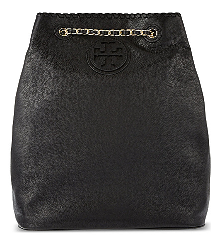 TORY BURCH Marion leather backpack (Black