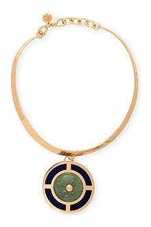 TORY BURCH Lilian 16ct gold-plated collar necklace