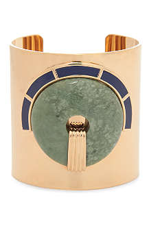 TORY BURCH Lilian 16ct gold-plated cuff