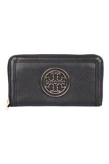 TORY BURCH Amanda pebbled leather wallet