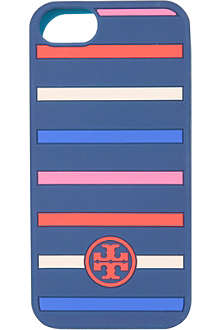 TORY BURCH Striped logo iPhone 5 case
